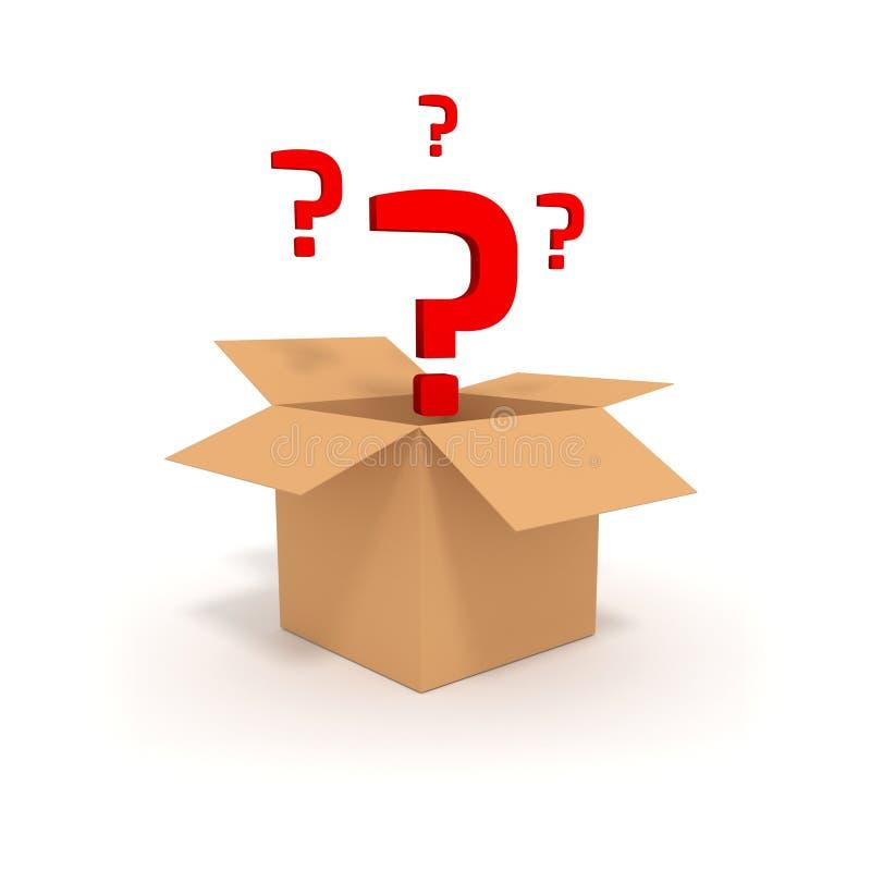 Verrassing in een 3D doos stock illustratie