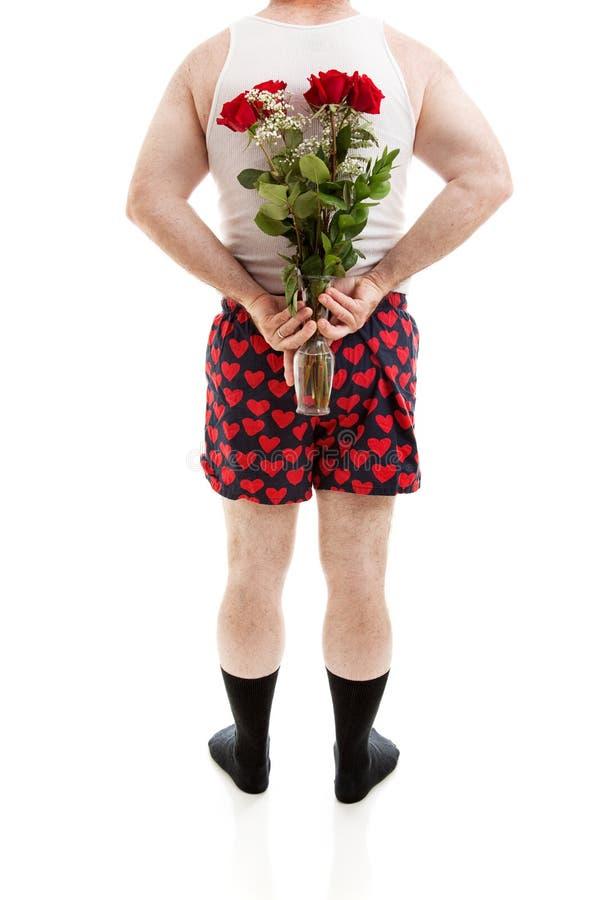 Verrassingsrozen voor Valentijnskaartendag royalty-vrije stock afbeeldingen
