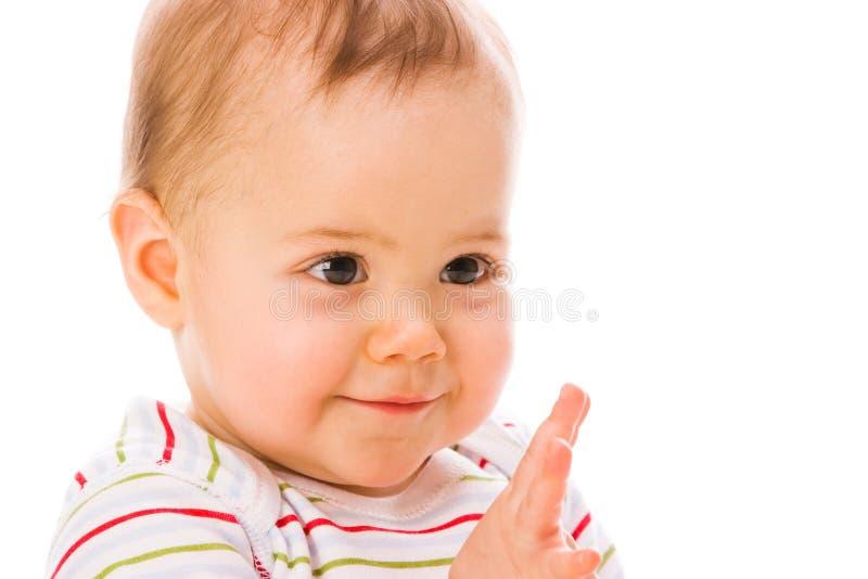 Verrast babymeisje stock foto's