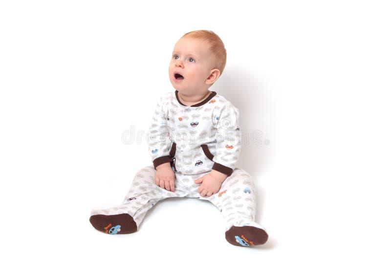 Verraste babyjongen royalty-vrije stock fotografie