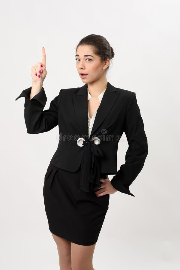 Download Verraste Bedrijfsvrouw Op Een Witte Achtergrond Stock Foto - Afbeelding bestaande uit schot, vreugde: 39109958