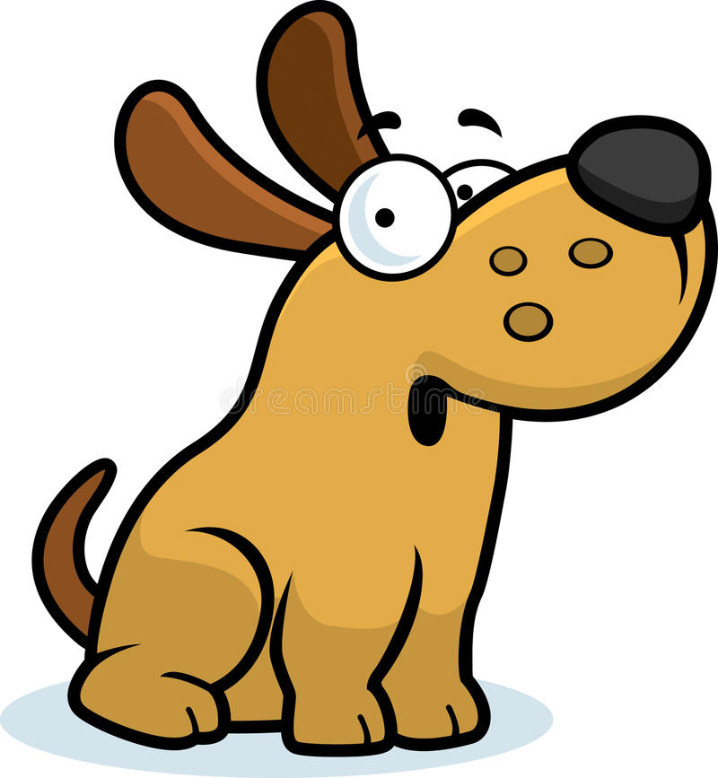 Verraste Beeldverhaalhond vector illustratie