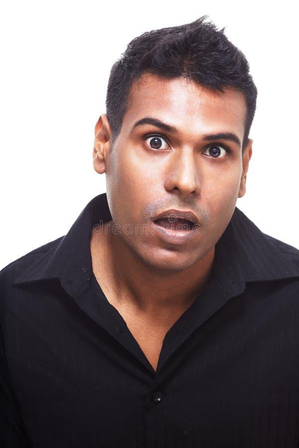 Verraste Indische mens stock foto's