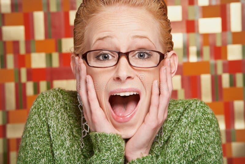 Download Verraste jonge vrouw stock foto. Afbeelding bestaande uit blij - 29514724