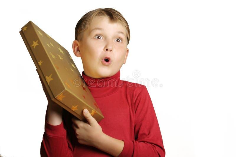 Verraste jongen stock afbeelding