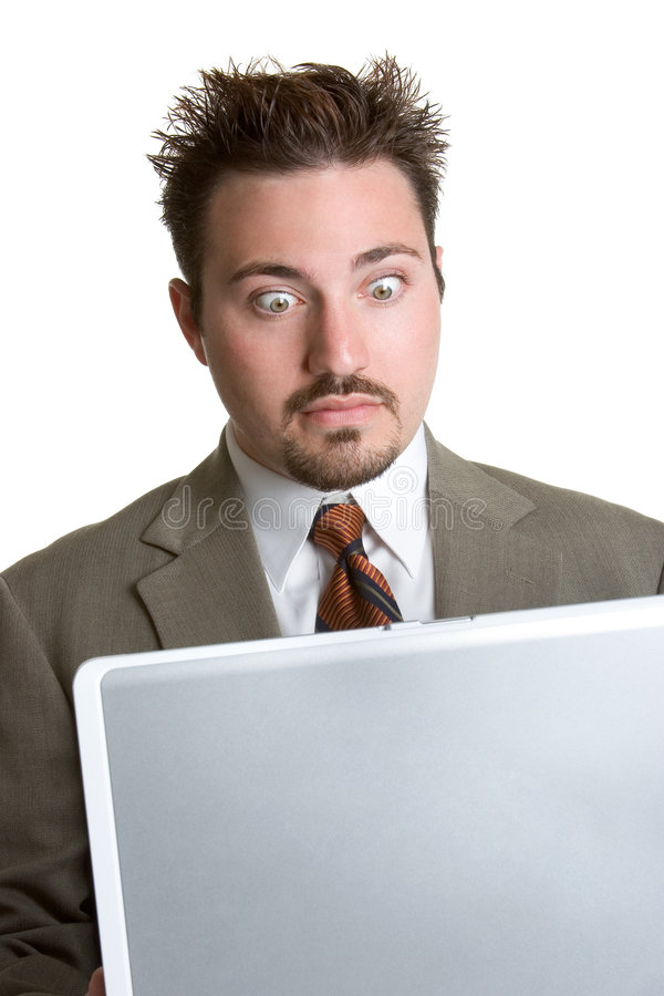 Verraste Laptop Mens stock afbeelding