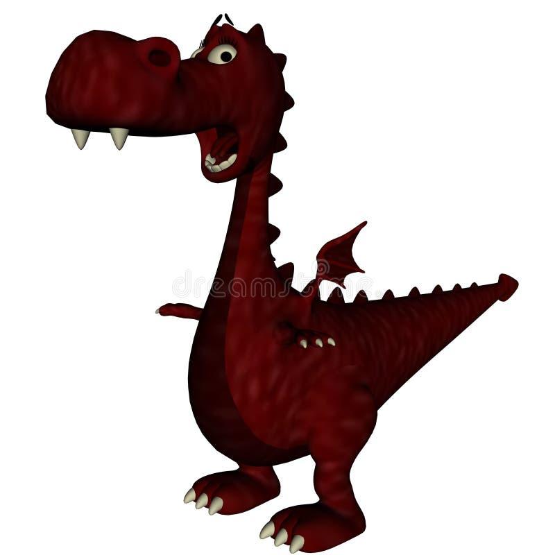 Verraste Rode Draak stock illustratie