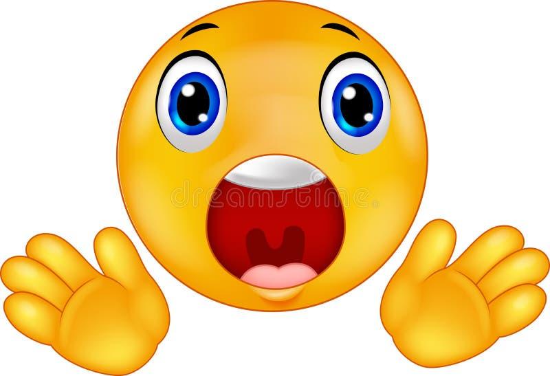 Verraste Smiley emoticon royalty-vrije illustratie