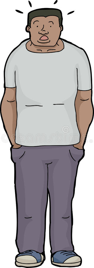 Verraste Spier Zwarte Mens stock illustratie