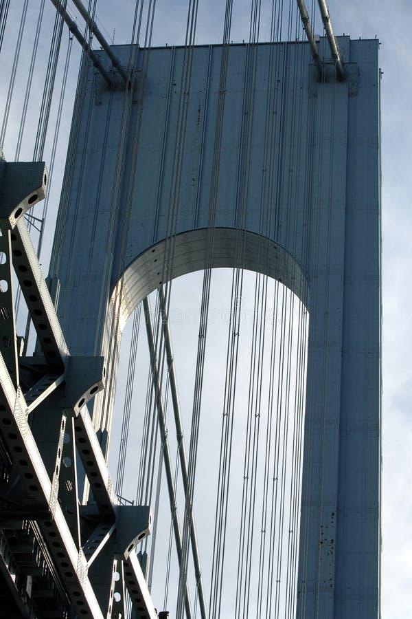 Verrazano-Narrows Bridge Tower. Detail, New York City, USA royalty free stock photography