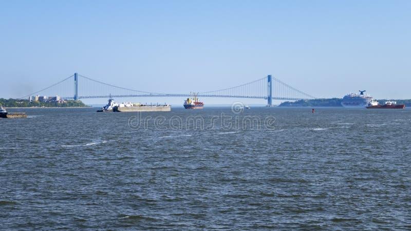 verrazano przesmyków most przy Nowy Jork usa fotografia royalty free