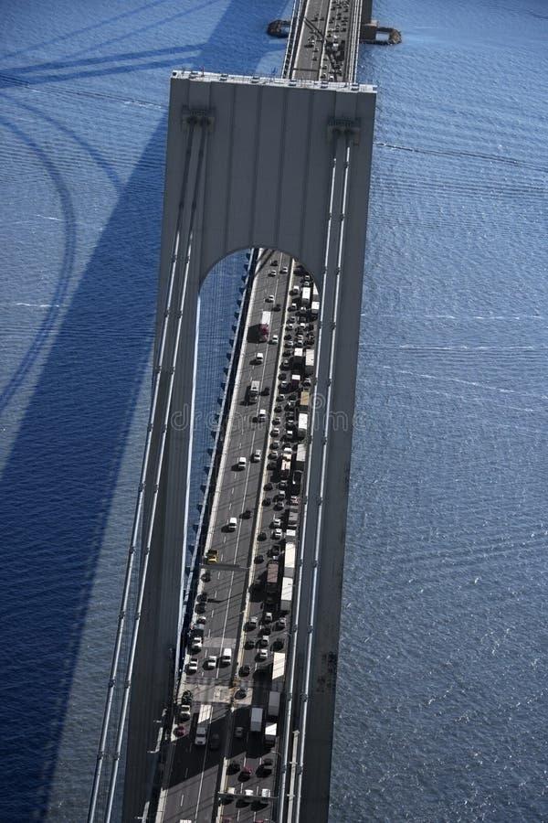 Verrazano-Verengt Brücke, NY lizenzfreie stockbilder
