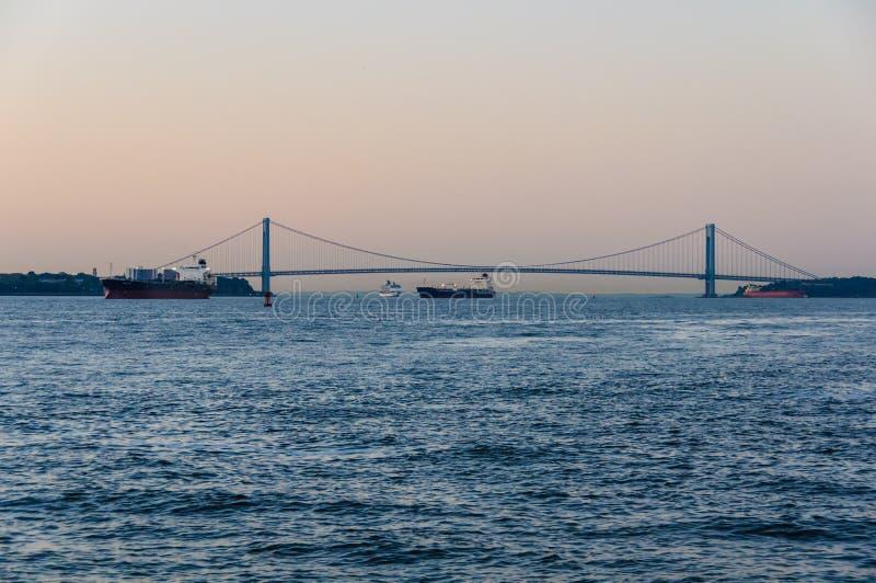 Verrazano-versmalt in Staten Island, New York, de V.S. stock foto's