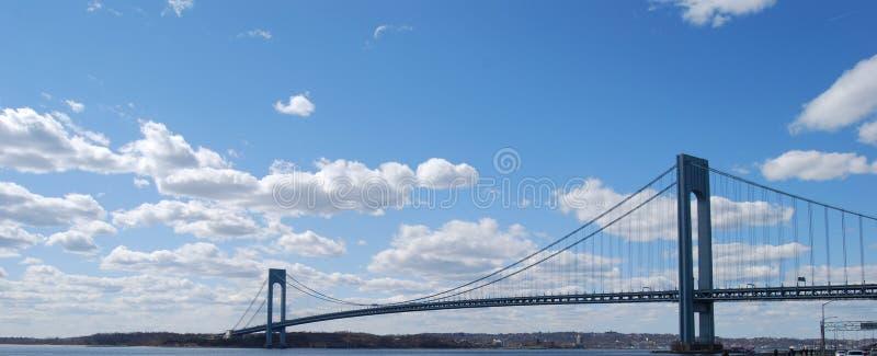 Verrazzano Narrows Bridge, früher Verrazano Narrows Bridge genannt stockbild