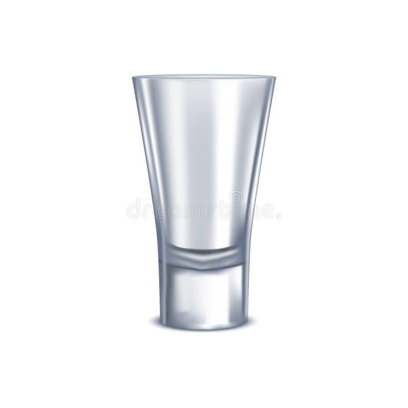 Verre à liqueur 3d détaillé réaliste d'isolement sur un fond blanc Vecteur illustration libre de droits