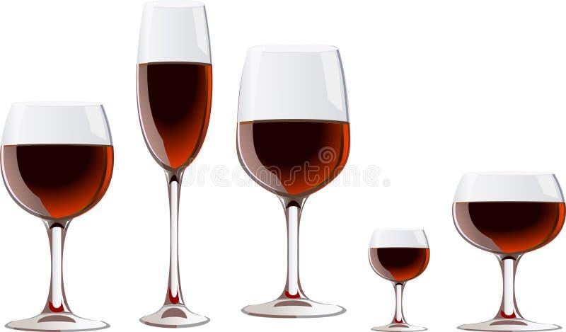 Verre à vin illustration stock