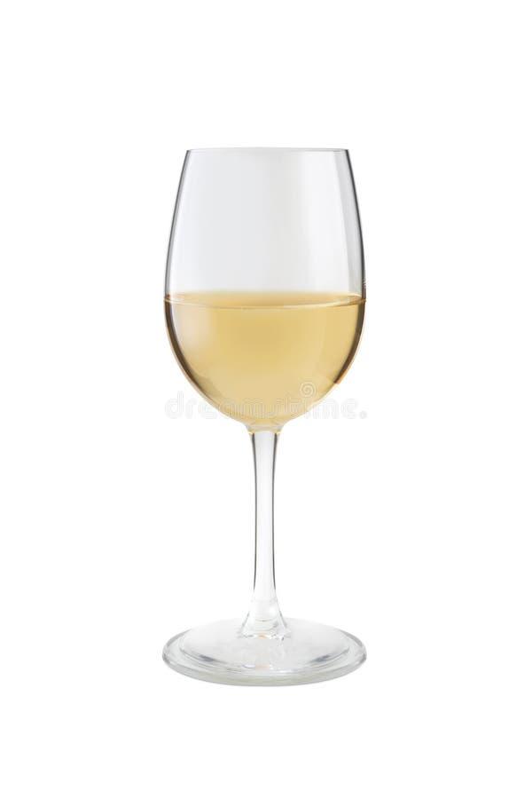 Verre à vin avec du vin blanc image stock