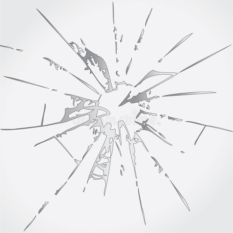 Verre cassé illustration de vecteur