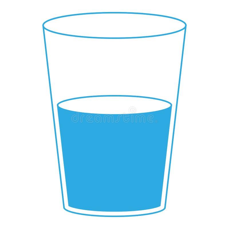 Verre d'eau d'isolement illustration stock