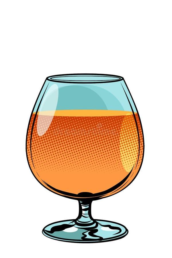 Verre d'eau-de-vie fine de cognac illustration stock