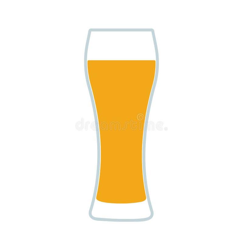 Verre d'icône de bière illustration de vecteur