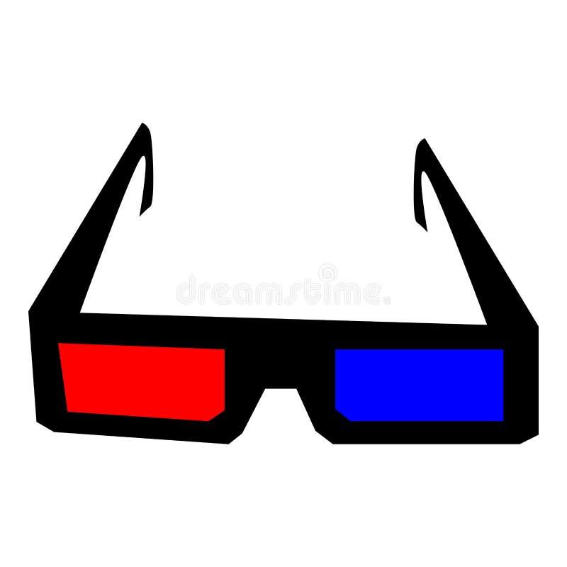 verre 3d pour la TV ou l'ordinateur portable illustration stock