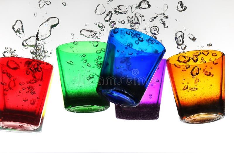 verre dans l'eau photographie stock