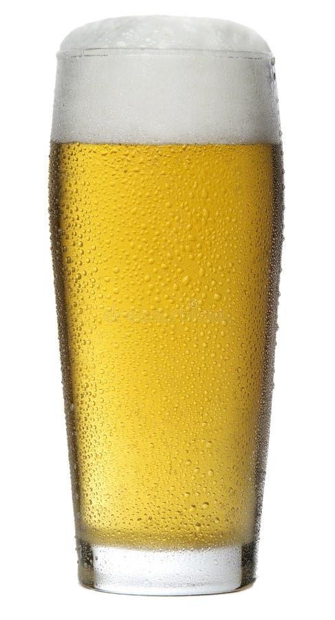 Verre de bière avec la mousse photos libres de droits