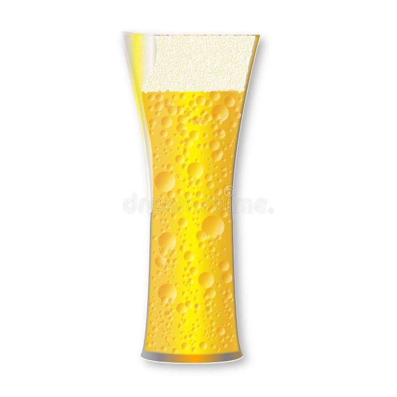 Verre de bière incurvé complètement de Pale Lager Style Beverage illustration stock