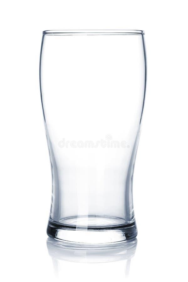 Verre de bière vide image libre de droits