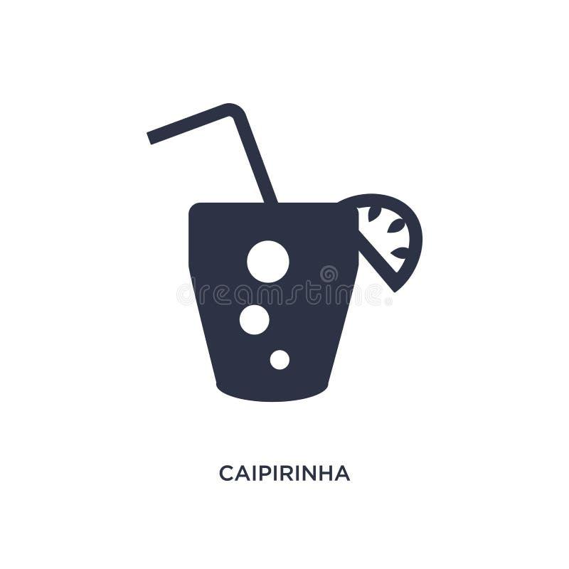 verre de boissons de caipirinha d'icône du Brésil sur le fond blanc Illustration simple d'élément de concept de culture illustration libre de droits