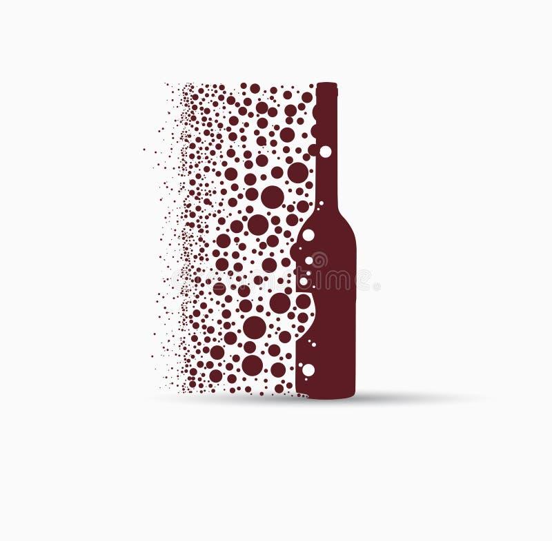 Verre de boissons de fond de concept de carte de vin illustration de vecteur