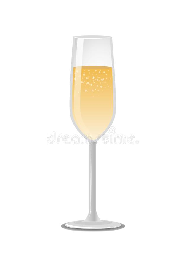 Verre de Champagne Classical Luxury Alcohol Drink illustration stock