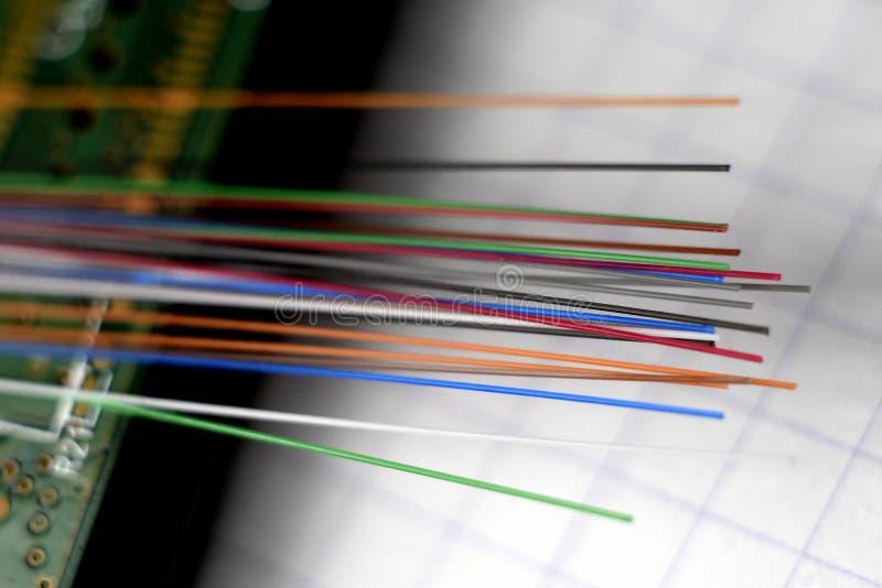 Verre de fibre optique image libre de droits