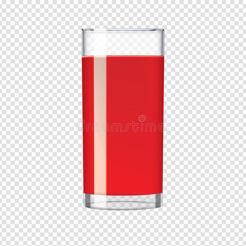 Verre de jus de rouge de cerise ou de tomate illustration de vecteur