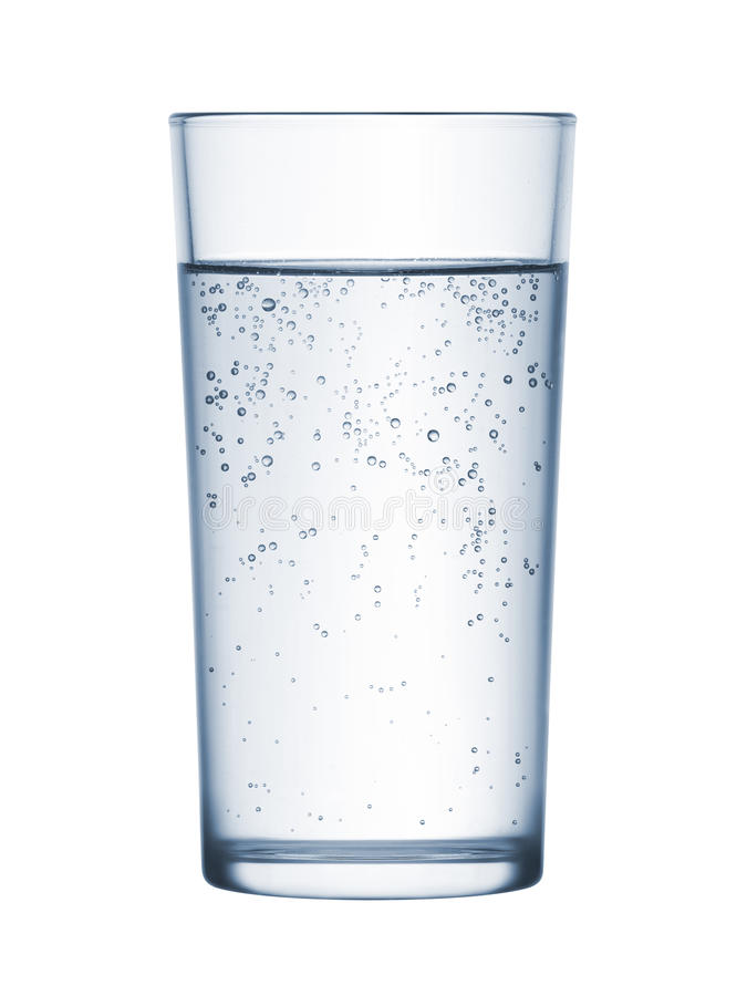 Verre de l'eau minérale photo stock