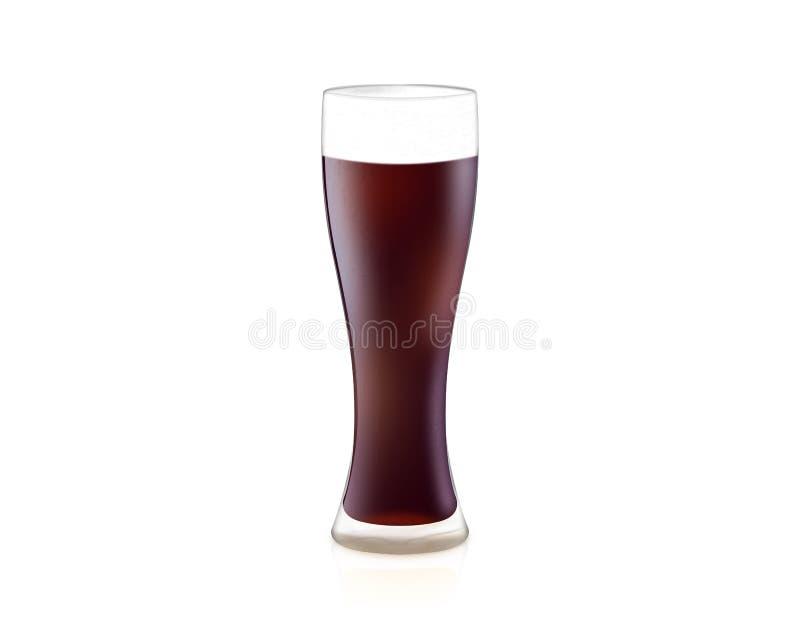 verre de l'illustration 3D de bière blonde d'isolement sur le backgroun blanc photographie stock