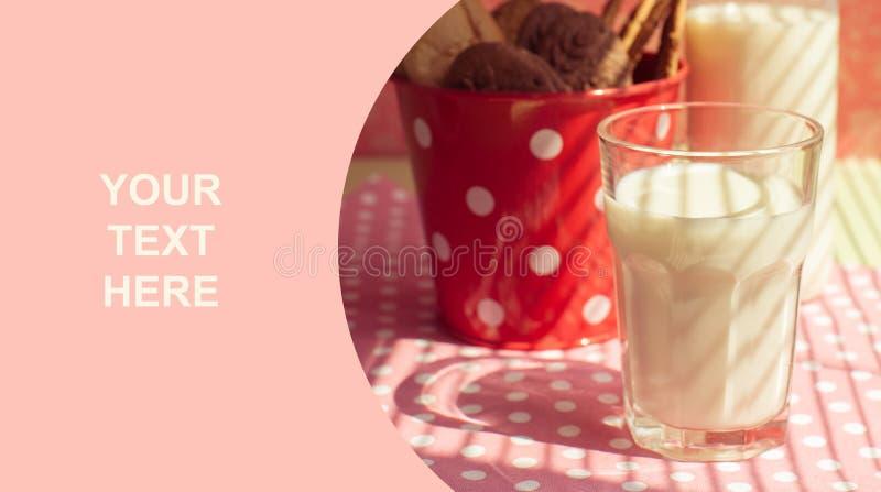 Verre de lait photographie stock libre de droits