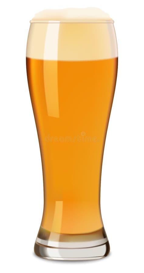 Verre de maquette de bière, style réaliste illustration stock