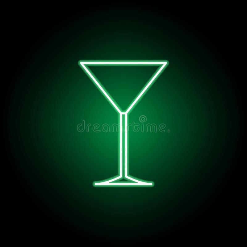 Verre de Martini, ic?ne d'?tiquette de table Peut ?tre employ? pour le Web, logo, l'appli mobile, UI, UX illustration stock