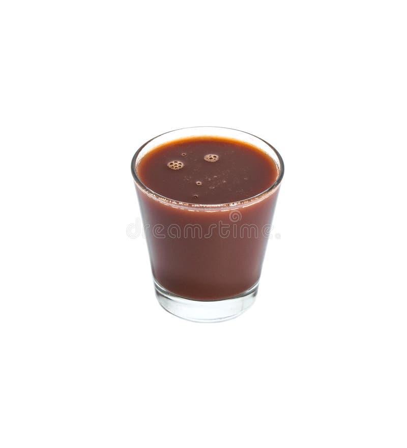 Verre de smoothie de prune sur fond blanc isolé photos stock