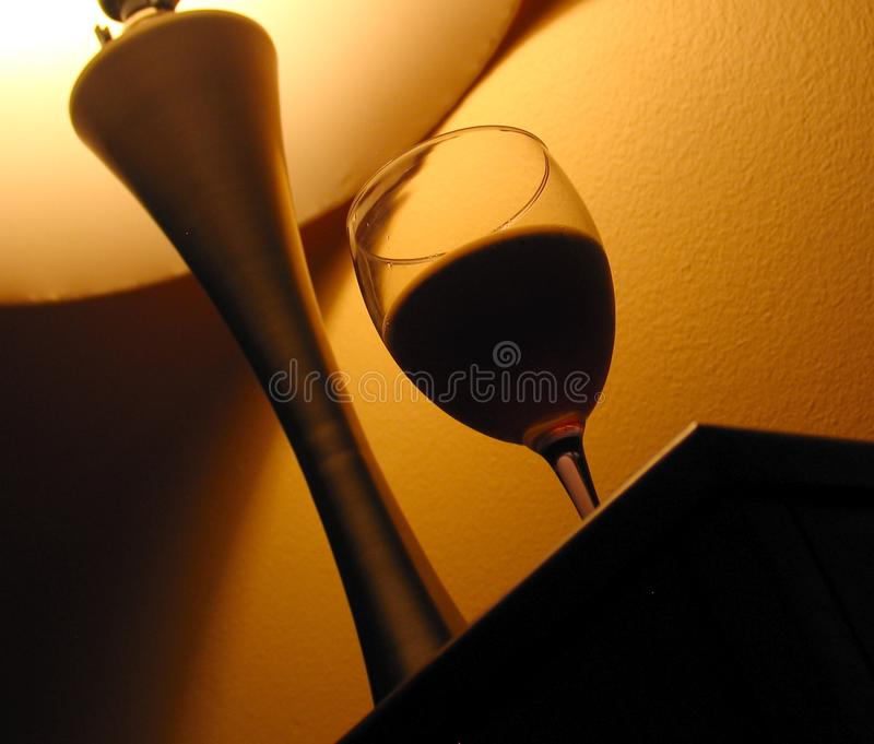 Verre de vent et lumière de lampe photo stock