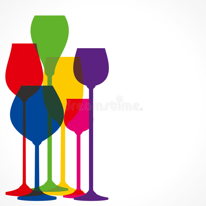 Verre de vin illustration stock