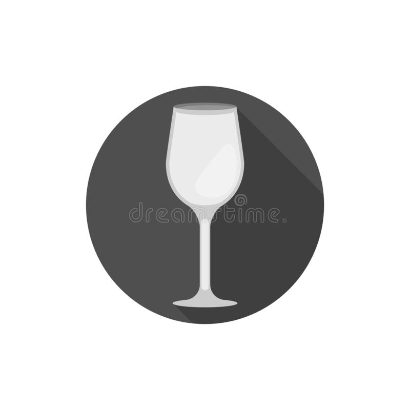 Verre de vin plat de Bordeaux de conception illustration de vecteur