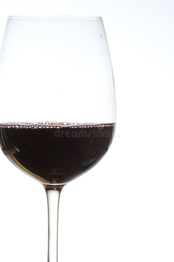 Verre de vin rouge dessus photographie stock libre de droits