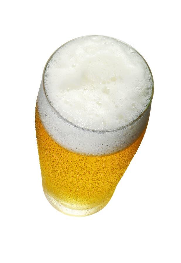 Verre de vue supérieure de bière photos stock