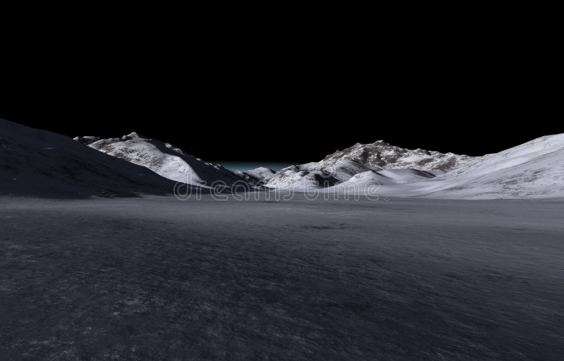 Verre donkere heuvels stock foto's
