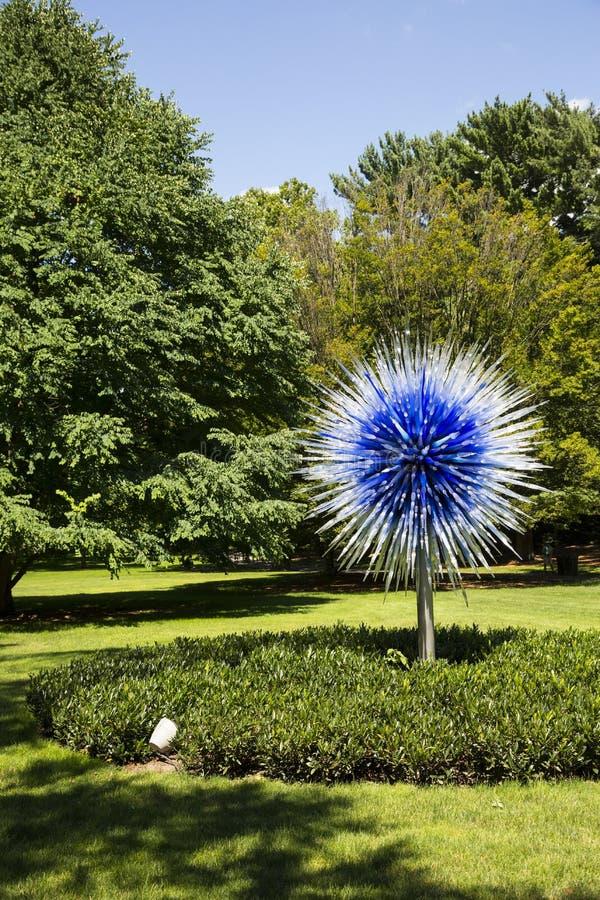 Verre et jardin de Chihuly image stock