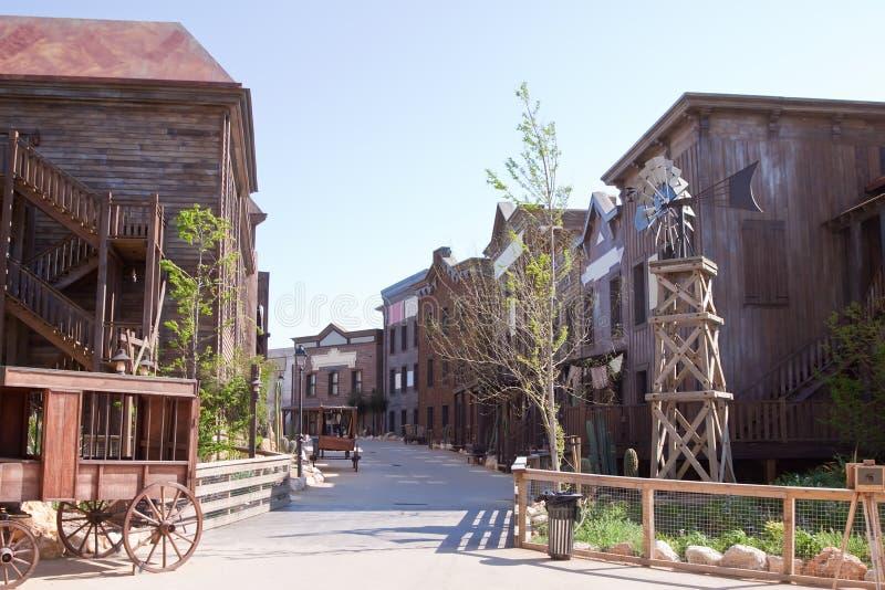 Verre het westenstad stock foto