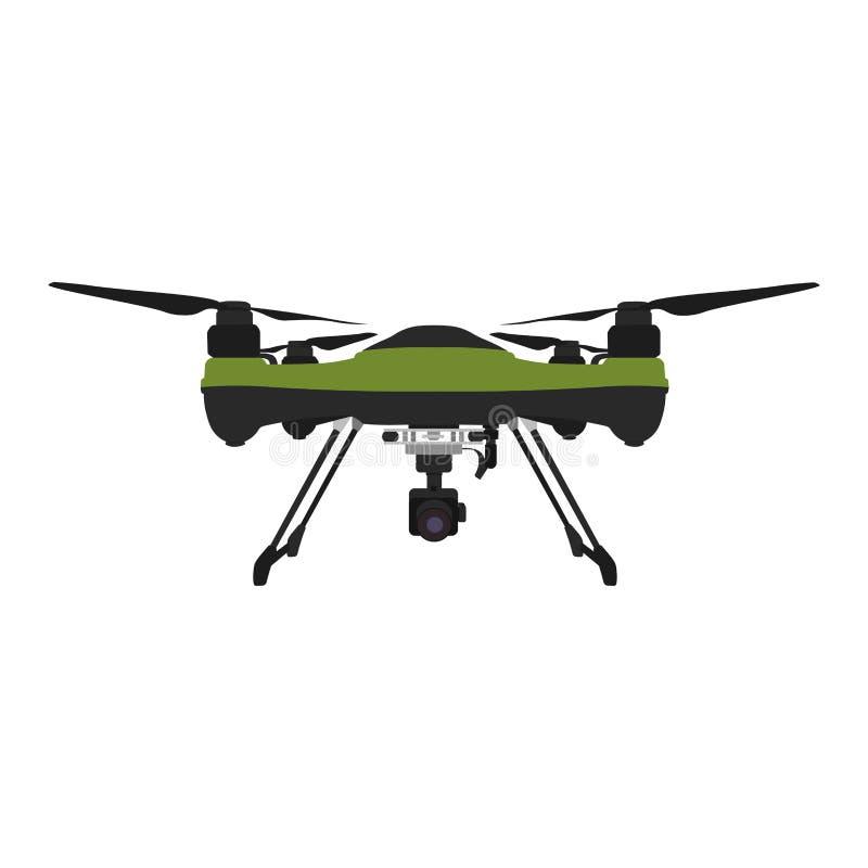Verre luchthommel met een camera die fotografie of videoopname nemen stock illustratie